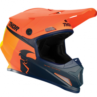 Thor Sector Racer Orange Midnight Helmet