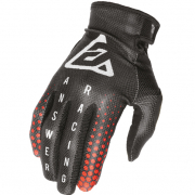 Answer AR-1 Kids Swish Black Red Silver Gloves