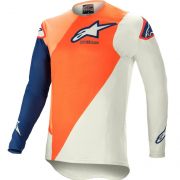 Alpinestars SuperTech Blaze Orange Dark Blue Jersey
