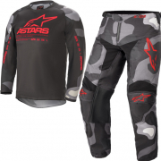 Alpinestars Kids Racer Tactical Grey Camo Red Fluo Kit Combo