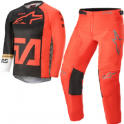 Alpinestars Kids Racer Compass Anthracite Fluo Red Kit Combo