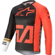 Alpinestars Kids Racer Compass Anthracite Fluo Red White Jersey