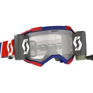 Scott Fury WFS Red Blue Clear Roll Off Goggles