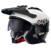 ONeal Volt Cleft Black White Trials Helmet
