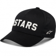Alpinestars Applied Black Snap Back Curved Cap