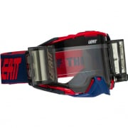 Leatt 6.5 Velocity Red Blue Clear Lens Roll Off Goggles