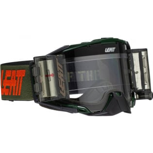 Leatt 6.5 Velocity Cactus Clear Lens Roll Off Goggles