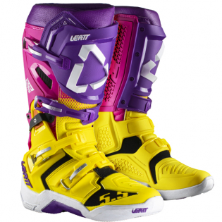 Leatt GPX 5.5 Flexlock United Yellow Purple Boots