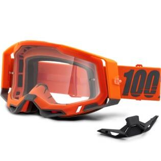 100% Racecraft 2 Kerv Clear Lens Goggles