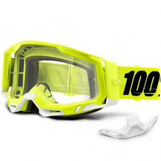 100% Racecraft 2 Yellow Clear Lens Goggles