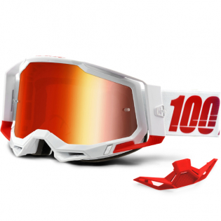 100% Racecraft 2 St-Kith Red Mirror Lens Goggles