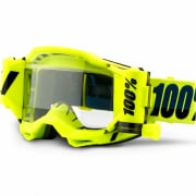 100% Accuri 2 Forecast Fluo Yellow Clear Lens Mud Goggles