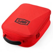 100% Red Black Goggle Case