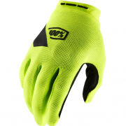 100% Ridecamp Fluo Yellow Motocross Gloves