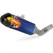 FMF Factory 4.1 Blue Titanium Slip On Silencer Husqvarna FE