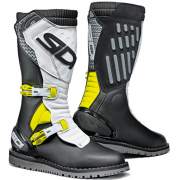 Sidi Zero.2 Black Fluo Yellow White Trials Boots