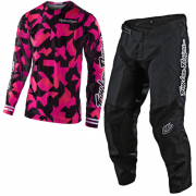 Troy Lee Designs Kids GP Air Confetti Pink Black Kit Combo