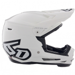 6D ATR-2Y Youth Solid Gloss White Helmet