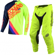 Troy Lee Designs Kids GP Air Tilt Navy Yellow Kit Combo