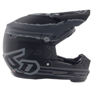 6D ATR-2Y Youth Danger Boy Matte Black Helmet