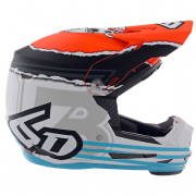 6D ATR-2Y Youth Danger Boy Orange Blue Helmet