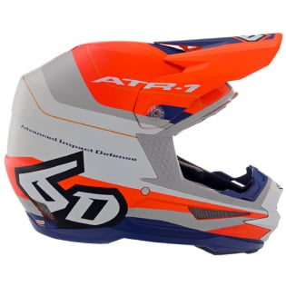 6D ATR-1 Pace Orange Blue Helmet