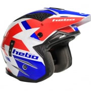 Hebo Zone 4 Fibre Balance Blue Red White Trials Helmet