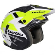 Hebo Zone 4 Fibre Balance Flo Yellow Trials Helmet