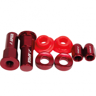 Apico Factory Anodised Red Wheel Bling Pack