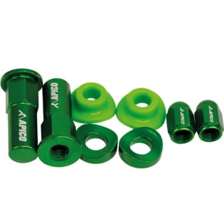 Apico Factory Anodised Green Wheel Bling Pack