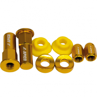 Apico Factory Anodised Yellow Wheel Bling Pack