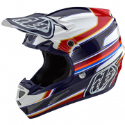 Troy Lee Designs SE4 Composite Helmet - Speed White Red