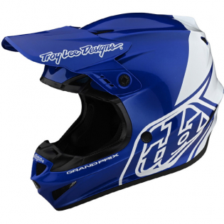 Troy Lee Designs GP Block Blue White Helmet