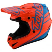 Troy Lee Designs Kids GP Silhouette Orange Cyan Helmet