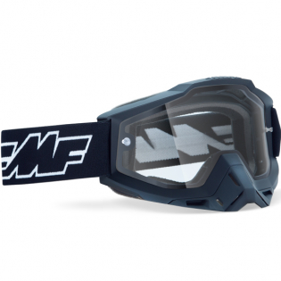 100% FMF Powerbomb Enduro Rocket Black Clear Lens Goggles