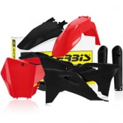 Acerbis Plastic Kit - Gas Gas MCF - Red Black