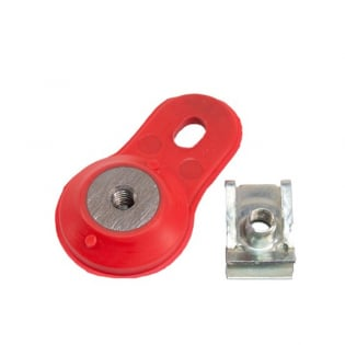 Apico 2 Stroke Exhaust Pipe Mounting Bracket - Gas Gas Red