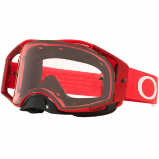 Oakley Airbrake Moto Red Clear Goggles