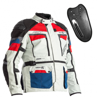 RST Pro Series X Airbag Textile Ice Blue Red Jacket