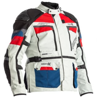 RST Pro Series Adventure - X CE Textile Ice Blue Red Jacket