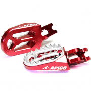 Apico Pro Bite Anodised Wide Foot Pegs - GasGas Red
