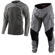 Troy Lee Designs Scout SE Systems Grey Enduro Adventure Kit Combo