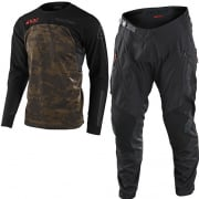 Troy Lee Designs Scout SE Systems Camo Green Enduro Adventure Kit Combo