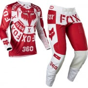Fox Racing 360 Nobyl Red White Kit Combo