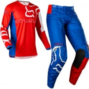 Fox Racing Youth 180 Skew White Red Blue Kit Combo