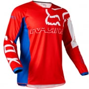 Fox Racing Youth 180 Skew White Red Blue Jersey