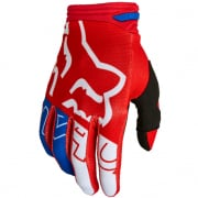 Fox Racing Youth 180 Skew White Red Blue Gloves