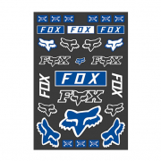 Fox Racing Legacy Track Pack Blue Stickers