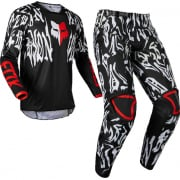 Fox Racing Youth 180 Peril Black Red Kit Combo