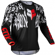 Fox Racing Youth 180 Peril Black Red Jersey